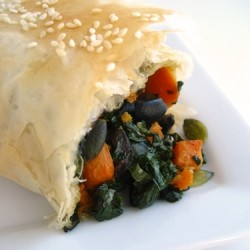 Sweet Potato Spinach Strudel