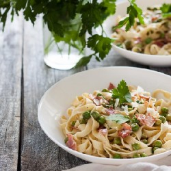 Tagliatelle with Bacon