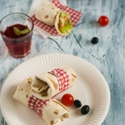 Tortilla Wraps with Chickpeas and Feta Cheese Recipe