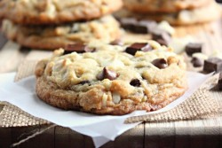 Triple Chocolate Chip Cookies with Macadamia Nuts