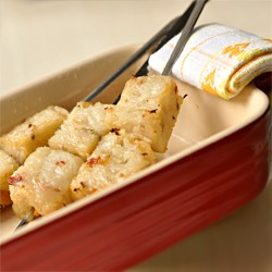 Turnip or Radish Cake on Skewers