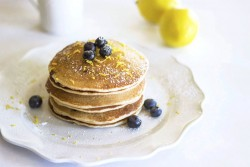 Vegan Blueberry Lemon Pancakes