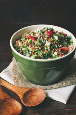 Wheat Berry Kale Salad