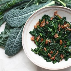 Wilted Kale and Bacon Salad