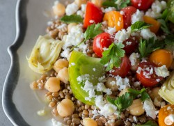Za'atar Tossed Wheat Berry Salad