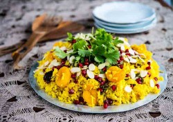 Apricot Almond Pomegranate Rice Pilaf Recipe