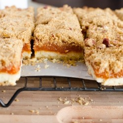 Apricot Rosemary Crumble Bars