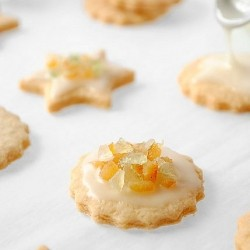 Candied Fruit and Iced Orange Cookies