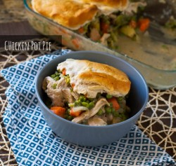 Chicken Pot Pie with a Leftover Biscuit Crust