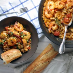 Chile-Spiked Shrimp and Beans