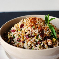 Cranberry Pistachio Mint Jeweled Rice