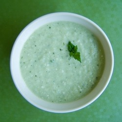 Cucumber Mint Almond Soup