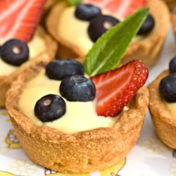 Custard and Fruit Tartlets