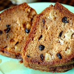 Glazed Apple Raisin Pound Cake