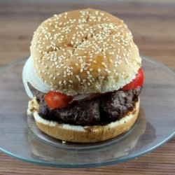 Grilled Sirloin Steak Burgers with Homemade Steak Sauce Recipe