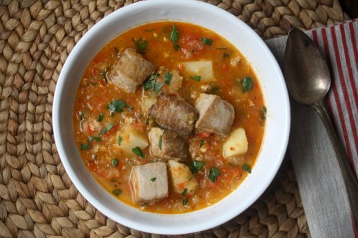 Marmitako Basque Tuna Stew with Potatoes and Peppers Recipe recipes ...