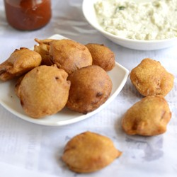 Onion Bajji Fritters Recipe
