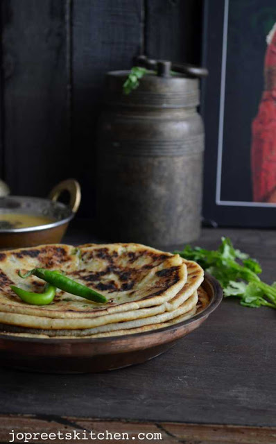Potato and Cottage Cheese Stuffed Kulcha Recipe