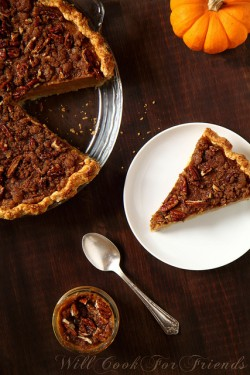 Pumpkin Pie with Pecan Streusel Topping Recipe