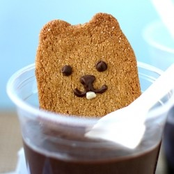 Punxatawney Phil Graham Crackers in Pudding for Groundhog Day