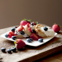 Red White and Blueberry shortcake Recipe