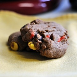 Reeses Pieces Chocolate Peanut Butter Cookies