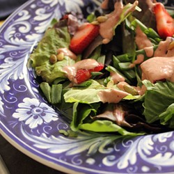 Salad with Strawberry Blue Cheese Dressing Recipe