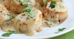 Sea Scallops in a Bourbon Jalapeno Cream Sauce Recipe