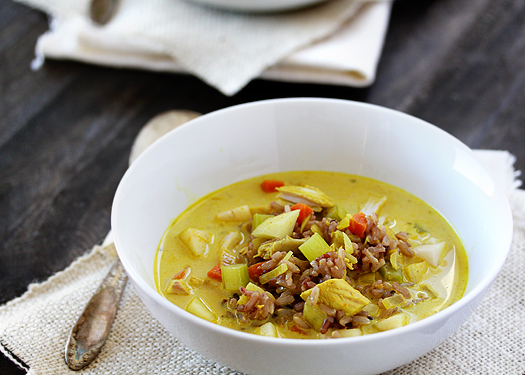 Sweet and Spicy Turkey Curry Soup