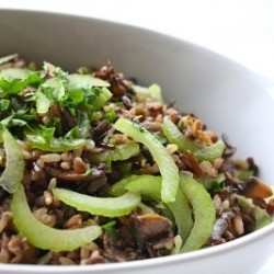 Wild Rice Salad With Mushroom Ragout