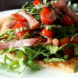 Antipasti Salad Flatbread
