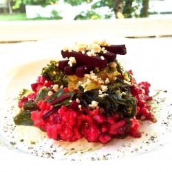 Beetroot Orange and Peto Risotto Recipe