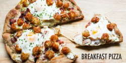 Breakfast Pizza with Tater Tots Bacon Eggs Recipe