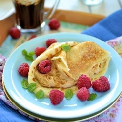 Cappuccino Pancakes with Coffee Mascarpone Recipe
