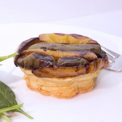 Caramelized Pepper and Thyme Tarte Tatin
