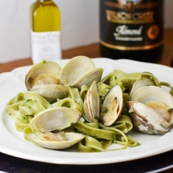 Champagne Clams with Lemon Oil
