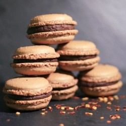 Chili Chocolate Macarons Recipe