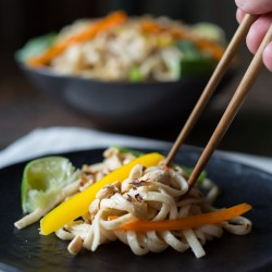 Cold Noodle Salad with Creamy Peanut Sauce Recipe