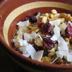 Cranberry Walnut Steel Cut Oatmeal
