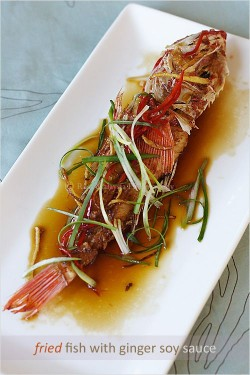Fried Fish with Ginger Soy