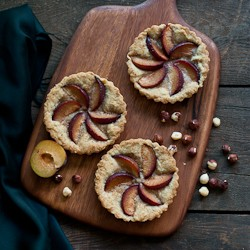Hazelnut Plum Tarts Recipe