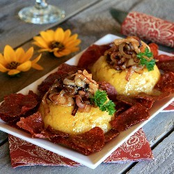 Mangu Mashed Plantains with Onions and Salami