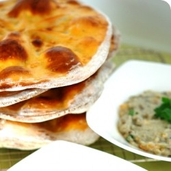Moroccan Flatbread with Baba Ghanoush
