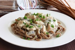 Porcini Mushroom Linguine with Chicken