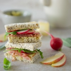 Prosciutto, Apple and Brie Tea Sandwiches with Sage Butter Recipe