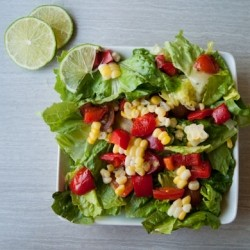 Roasted Summer Vegetable Salad with Cilantro Lime Vinaigrette Recipe