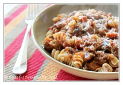 Sausage Eggplant Pasta with Herbes de Provence
