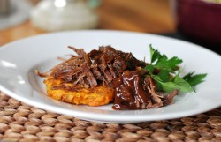 Shredded Beef Brisket with Bourbon Espresso Glaze