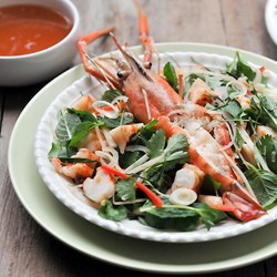 Thai Prawns Salad with Kaffir Lime Dressing