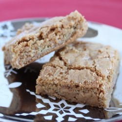 Thick and Chewy Blondies with Peanut Butter Chips